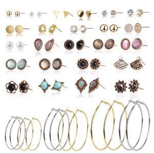 30 Pairs Stud Earrings Set